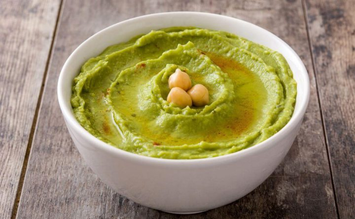 hummus de aguacate y garbanzo