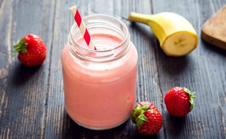 Smoothie o Batido de Fresa, Banana y Yogurt