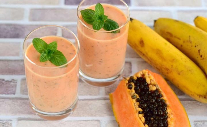 Batido de Papaya con Banana y Yogurt